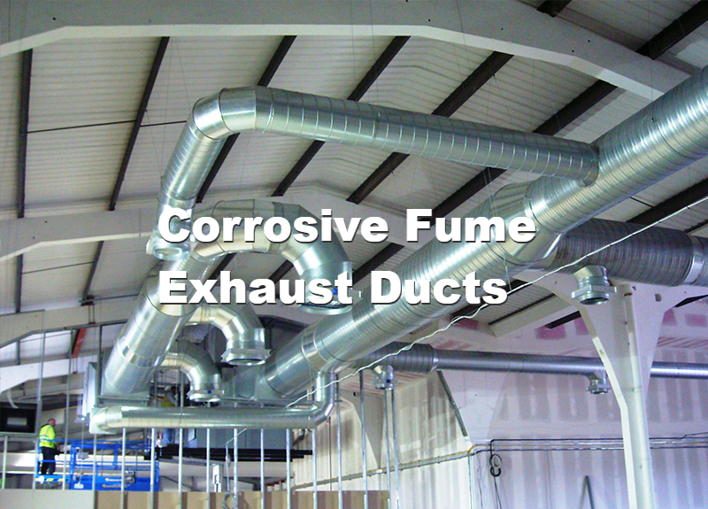 Corrosive Fume Exhaust Ducts | Teflon Coating Application